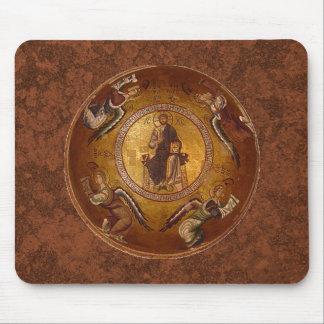 Pantakrator Christian Icon of Jesus Christ Mouse Pad