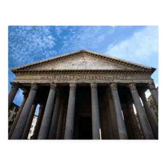 pantheon in rome postcard