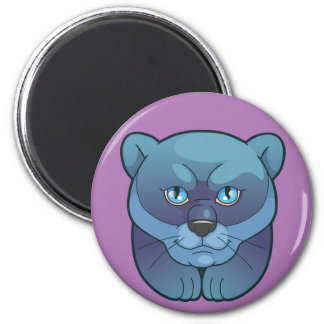 panther 6 cm round magnet