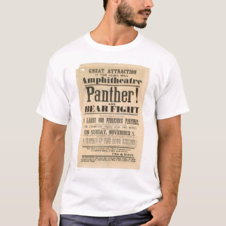 Panther and Bear Fight Advertisement (1293A) T-Shirt