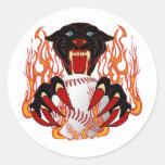 Panther-Baseball-1White-T-2 Round Sticker