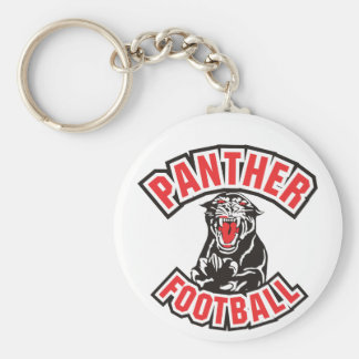 PANTHER FOOTBALL red Basic Round Button Key Ring