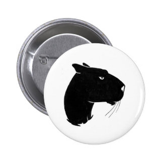 Panther head profile pinback buttons