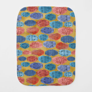 Panther Head Scarab Pattern Baby Burp Cloth