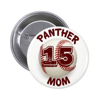 Panther Mom Baseball Button