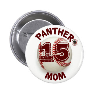 Panther Mom Baseball Button sponsored by BABC