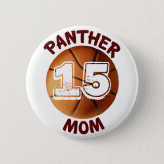 Panther Mom Basketball Button
