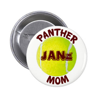 Panther Mom Tennis Button