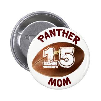 Panther Mum Football Button