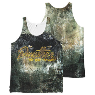 """Panther on the Prowl"" All-Over Print Singlet"