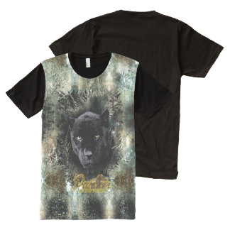 """Panther on the Prowl"" All-Over Print T-Shirt"