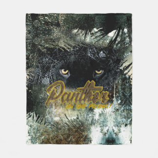 """""""Panther on the Prowl"""" Fleece Blanket"""