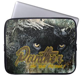 """Panther on the Prowl"" Laptop Sleeve"