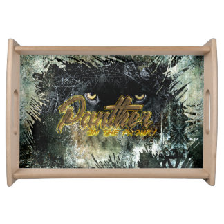 """""""Panther on the Prowl"""" Serving Tray"""
