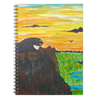 Panther on the prowl spiral notebook
