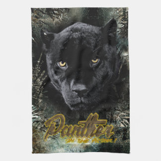 """Panther on the Prowl"" Tea Towel"