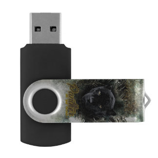 """Panther on the Prowl"" USB Flash Drive"