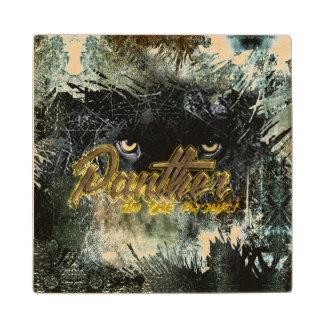 """""""Panther on the Prowl"""" Wood Coaster"""
