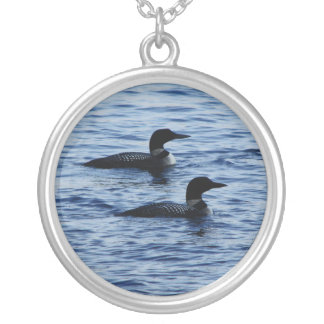 Panther Pond Loons Silver Plated Necklace