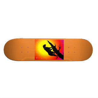 Panther silhouette skateboard deck