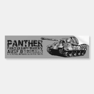 Panther Tank Bumper Sticker