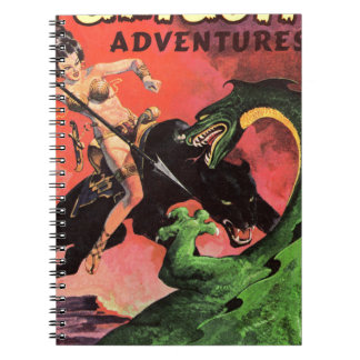 Panther vs Dinosaur Spiral Notebook