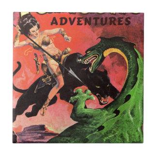 Panther vs Dinosaur Tile