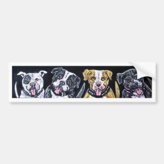 panting pitbulls bumper sticker