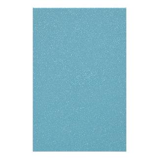 PANTONE Aquamarine babyblue with faux fine Glitter Customized Stationery