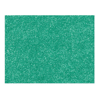 PANTONE Lucite Green with faux Glitter Postcard
