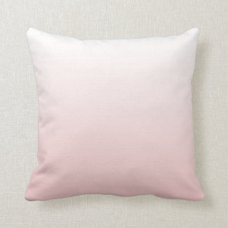 Pantone Rose Quartz Gradient Throw Pillow