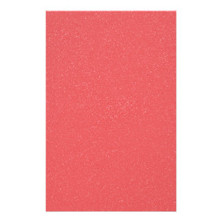 PANTONE Strawberry Ice Pink with faux fine Glitter Stationery Paper