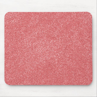 PANTONE Strawberry Ice PINK with faux Glitter Mouse Pad
