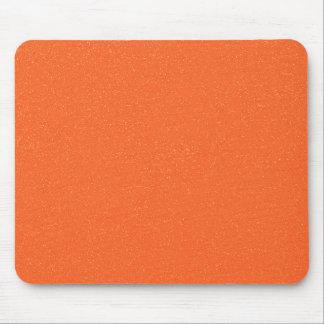 PANTONE Tangerine ORANGE with faux fine Glitter Mouse Pad
