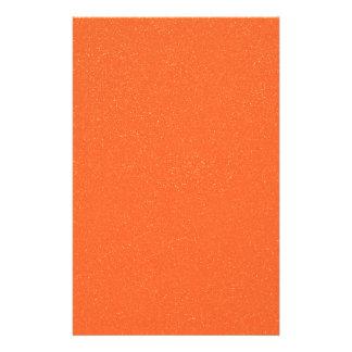PANTONE Tangerine ORANGE with faux fine Glitter Stationery Design