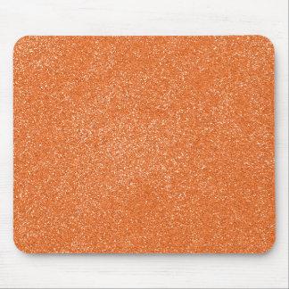 PANTONE Tangerine ORANGE with faux Glitter Mouse Pad