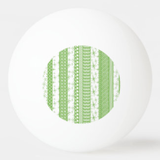"Pantone's ""Greenery"" with Retro Pattern Stripes Ping Pong Ball"