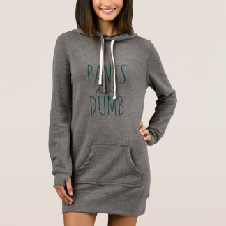 Pants are Dumb Cute Funny No Pants Humor Dress