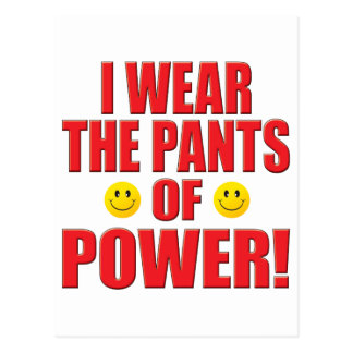 Pants Power Life Postcard