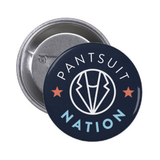 Pantsuit Nation Button, Navy 6 Cm Round Badge