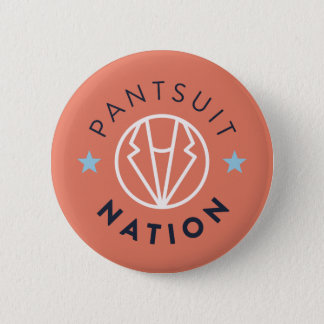 Pantsuit Nation Button, Orange 6 Cm Round Badge