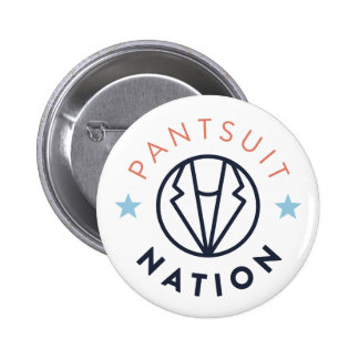 Pantsuit Nation Button, White 6 Cm Round Badge