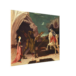 PAOLO UCCELLO - Saint George and the dragon 1470 Canvas Print