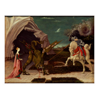 PAOLO UCCELLO - Saint George and the dragon 1470 Poster