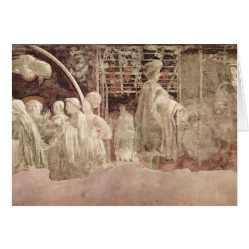 Paolo Uccello: Scene of peace offerings Greeting Cards
