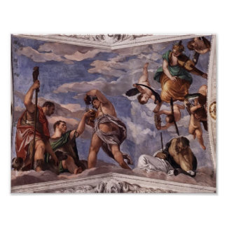 Paolo Veronese: Bacchus, Vertumnus and Saturn Poster
