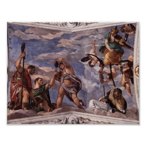 Paolo Veronese: Bacchus, Vertumnus and Saturn Posters