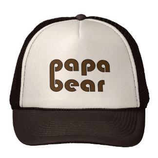 Papa Bear Bear Paw (Brown) Cap