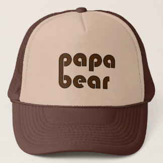 Papa Bear Bear Paw (Brown) Trucker Hat