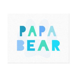 Papa bear canvas prints